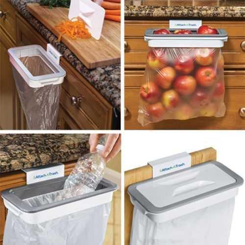 Attach A Trash حامل اكياس القمامة بغطاء