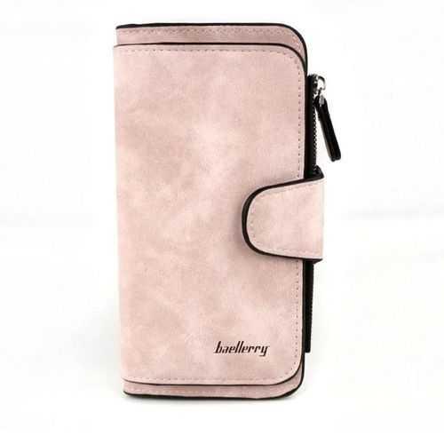 محفظة جلد شمواه ( سيمون ) - للأموال &Amp; الكروت