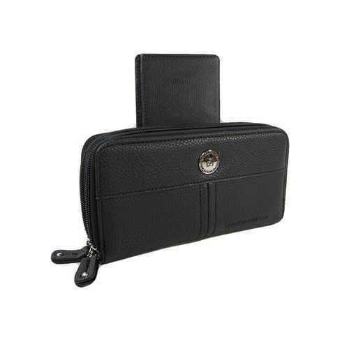 محفظة جلد للرجال ( اسود ) - للأموال &Amp; الكروت 1