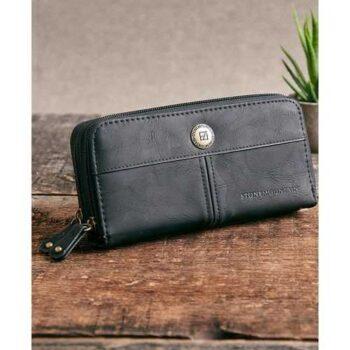 Generic محفظة جلد للرجال ( اسود ) - للأموال & الكروت
