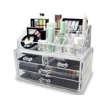Transparent Acrylic Makeup Organizer Box 4 Drawers
