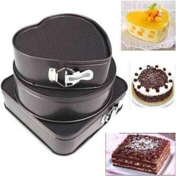 Cake Mold Set - 3 Pcs