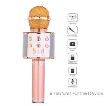 WS-858 ميكروفون بلوتوث للهواتف الذكية -