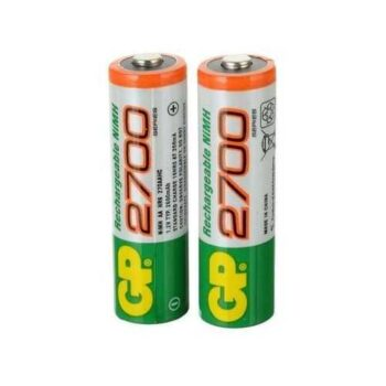 Gp Batteries Rechargeable Batteries - AA - 2700mAh - 2 Pcs
