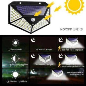 كشاف يعمل بالطاقة الشمسية مزود بحساس للحركة