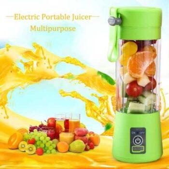مزايا - خلاط عصير محمول ببطارية قابلة للشحن - 380 مل - أخضر
