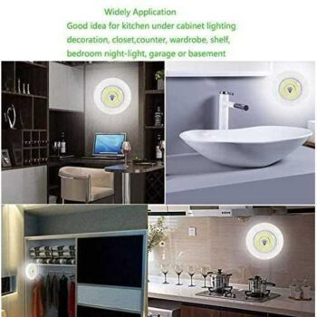 03 LED Spotlights With Remote Control - 3Pcs