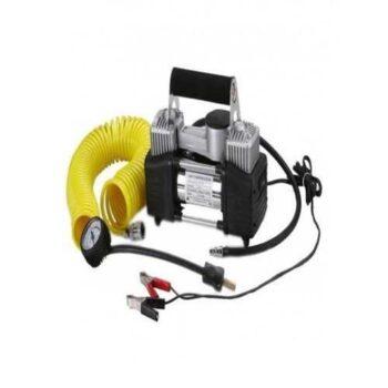 Car Air Compressor - 2 Cylinder - Black