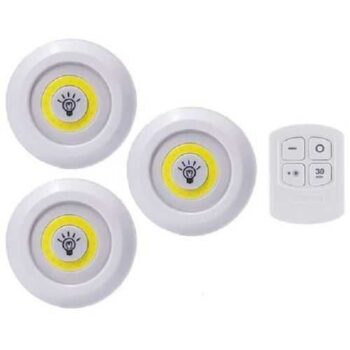 LED Light With Remote Control Set - 3 Pcs