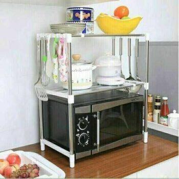 Microwave Rack - Silver