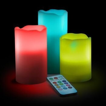 Real Wax LED Color Changing Candle - 3 Pcs