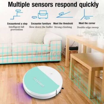 XIMEIJIE مكنسة كهربائية روبوت بالأشعة فوق البنفسجية لتنظيف وتطهير الرضيات من الفيروسات